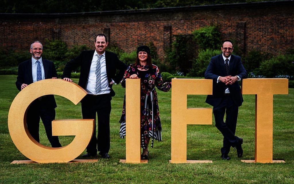 Rabbi Schiff together with some of the GIFT team: Rabbi Avrohom Zeidman, Michelle Barnett and Rabbi Sandor Milun
