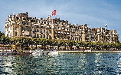 The magnificent Grand Hotel-National overlooking Lake Luscerne