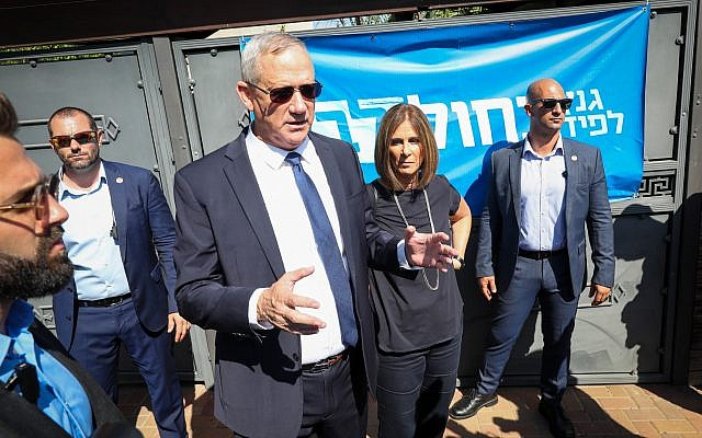 Benny Gantz, former Israeli Army Chief of Staff and chairman of the Blue and White Israeli centrist political alliance, seen after he cast his vote during the Israeli legislative elections, in Rosh Haayin, Israel, 17 September 2019. Photo by: JINIPIX