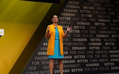 Siobhan Benita giving her speech at the LibDem party conference