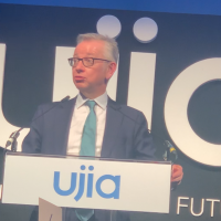Michael Gove addressing the UJIA annual dinner.