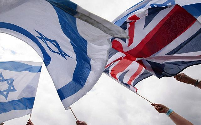Israeli and British flags  (Jewish News)