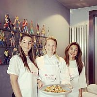 Amit Fraser, executive director of Migdal Ohr UK with celebrity chef Lisa Roukin and host Mimi Benisty. Credit: Jessica Benisty