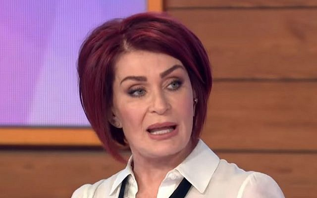 Sharon Osbourne on ITV's Loose Women in May 2019 (Credit: YouTube)