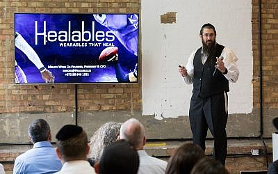 Moshe Lebowitz, Healables. TechSpace in Shoreditch. Credit: Shai Dolev