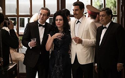 Sacha Baron Cohen (second from right) stars as Mossad agent Eli Cohen in The Spy
