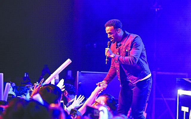 Craig David on stage    (Photo Credit: Jaimie Harris)