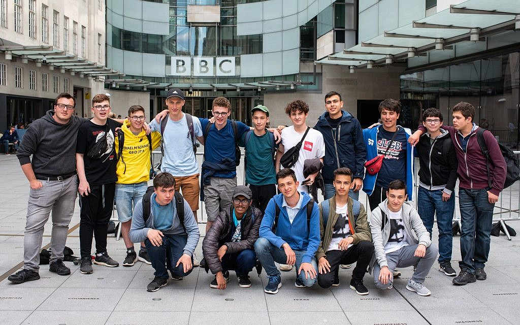 "JLGB's National Citizen Service group ""Burst the Bubble"" on a visit to BBC Young Reporters at BBC Broadcasting House"