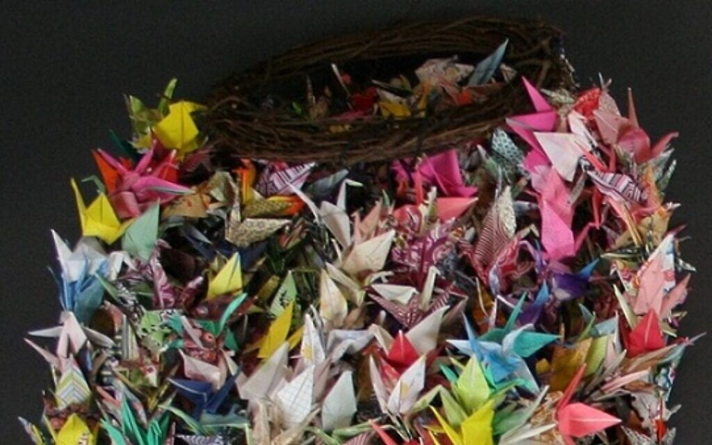 Origami cranes sent in memoriam of the Pittsburgh synagogue shooting. (Courtesy of the Tree of Life Congregation and Rauh Jewish History Program & Archives via JTA)