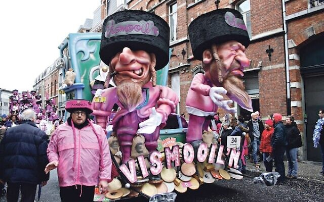 A carnival float, which was paraded through the centre of a Belgian city, is guilty of Nazi-style antisemitism. (Credit: Pen News)