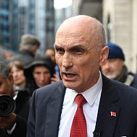 Chris Williamson outside the Birmingham Civil Justice Centre on Thursday (Photo credit: Joe Giddens/PA Wire)