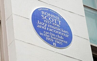 English Heritage Blue Plaque in honour of Jazz musician Ronnie Scott (Photo credit: English Heritage/Jed Leicester/PinPep/PA Wire)