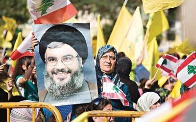 Hezbollah supporters in Beruit  (Credit Image: PROPA Images/ZUMAPRESS.com)
