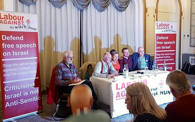 A Labour Against the Witchhunt event taking place during the Labour conference 2019, featuring Ken Livingstone, Jackie Walker, Chris Williamson and Asa Winstanley of Electronic Intifada   (Credit: HOPE not hate/Jewish News)