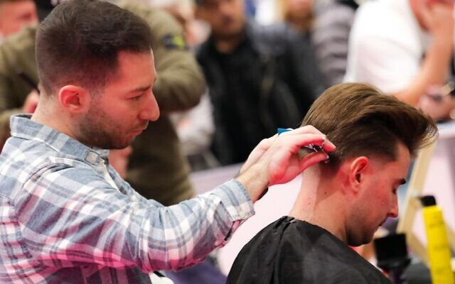 Barber Nick Lee (Picture by Shaun Fellows / Shine Pix)