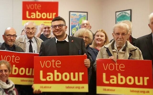 Joshua Garfield (centre) will be trying to oust the Conservative chair, James Cleverly