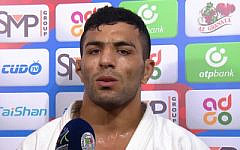 Iranian Judoka Saeid Mollaei (Screenshot via Times of Israel)