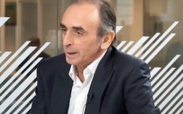 Eric Zemmour (Screenshot from Youtube)