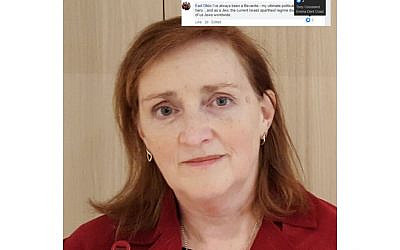 MP Emma Dent Coad, left, (Credit: Wikimedia Commons), screenshot of post, right (credit: Facebook)
