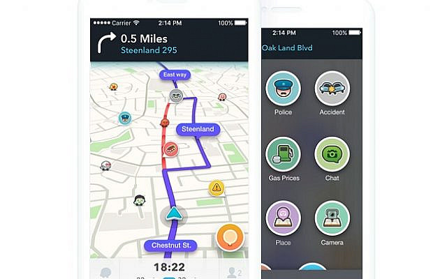 Example of Waze in action
