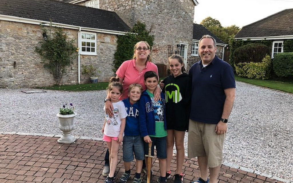 Sivan Hermon, 11, from Elstree, has so far raised more than £1,300 for the Israel Pulmonary Hypertension Association, after swimming 390 lengths over four weeks. Here she is pictured with her family