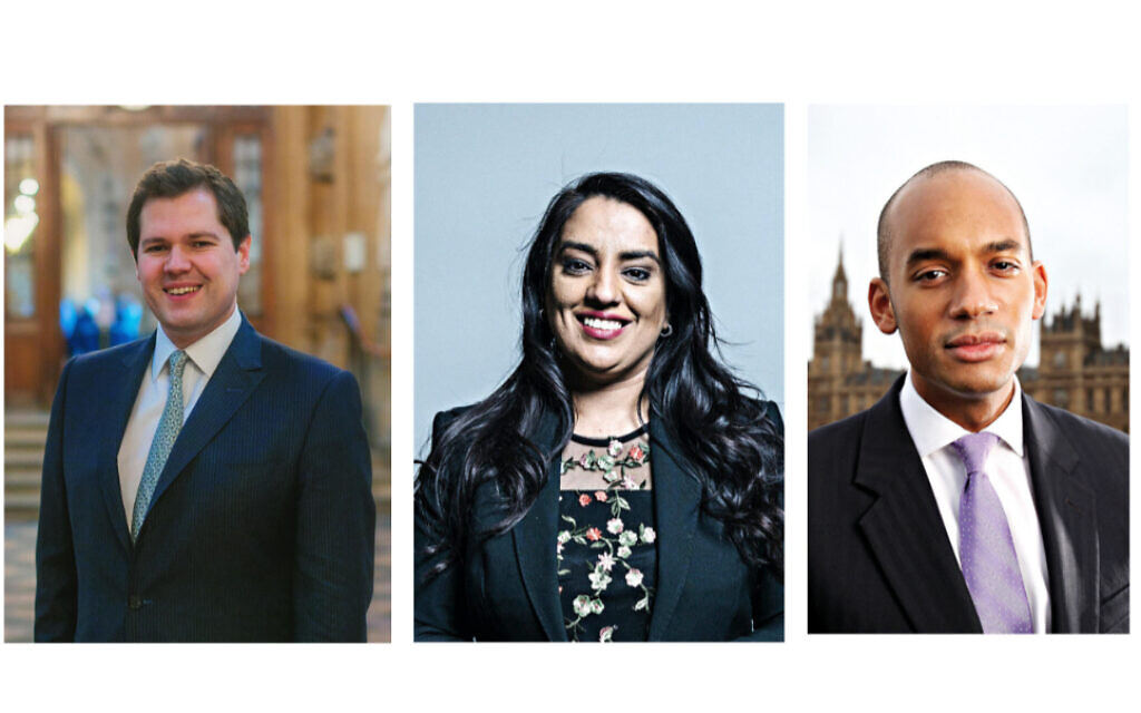 Robert Jenrick, Naz Shah and  Chuka Umunna with feature at the JW3 hustings