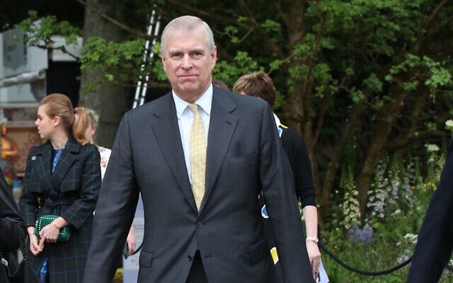Previously unissued photo dated 20/05/19 of the Duke of York and his private secretary Amanda Thirsk at the RHS Chelsea Flower Show at the Royal Hospital Chelsea, London. The Duke is facing growing calls to give a formal statement to American authorities examining the Jeffrey Epstein sex scandal following his television interview. PA Photo. Issue date: Monday November 18, 2019. See PA story ROYAL Andrew. Photo credit should read: Yui Mok/PA Wire
