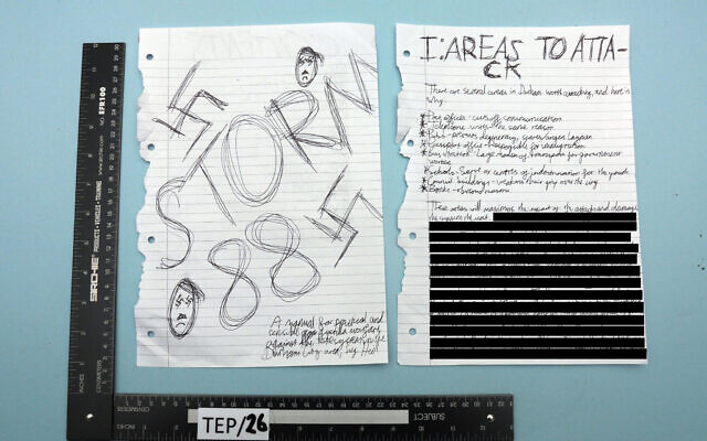 Photo issued by Counter Terrorism Police North East of the cover and an excerpt taken from a 16 year old's 'manifesto' shown to a jury at Manchester Crown Court. (Photo credit: Counter Terrorism Police North East/PA Wire)