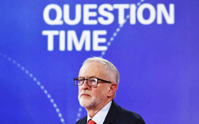 Labour Party leader Jeremy Corbyn during the BBC Question Time Leaders' Special (Photo credit: Jeff Overs/PA Wire)