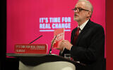 Labour Party leader Jeremy Corbyn at the launch of the Labour Party race and faith manifesto (Photo credit: Joe Giddens/PA Wire via Jewish News)