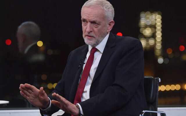 Labour Party leader Jeremy Corbyn during a BBC interview with Andrew Marr. (Photo credit: Jeff Overs/BBC/PA Wire)