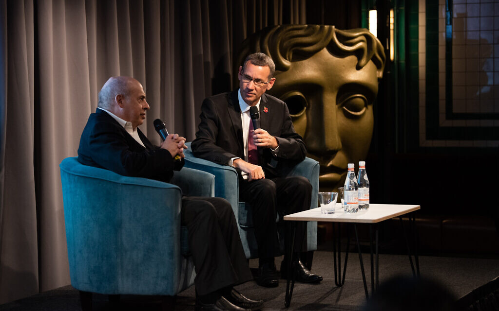 Natan Sharansky, the film's protagonist (L) in conversation with Mark Regev, Israel's Ambassador to the United Kingdom (R) at BAFTA. (C) Blake Ezra Photography 2019