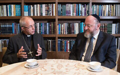 Archbishop of Canterbury Justin Welby with his friend, Chief Rabbi Ephraim Mirvis.  Credit: Blake Ezra Photography
