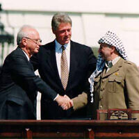 The historic peace conference at Camp David with Yitzhak Rabin and Yasser Arafat