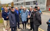 Theresa May speaking to Hatzolah volunteers in Golders Green (credit: Mike Freer)