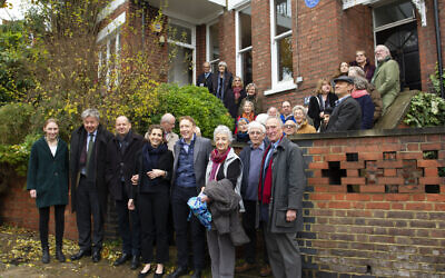 The Cosman-Keller blue plaque unveiling
