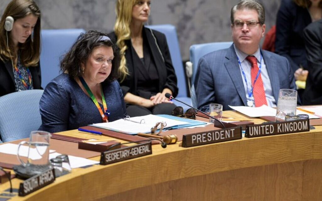 Envoy tells UN Britain still considers Jewish settlements in West Bank 'illegal'