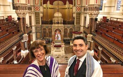 Rabbi Helen Freeman and Rabbi David Mitchell