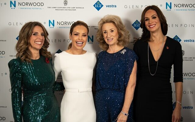 From left: Lady Nicola Mendelsohn, Katie Piper, Lady Estelle Wolfson, Orly Wolfson. Credit: Blake Ezra Photography 2019