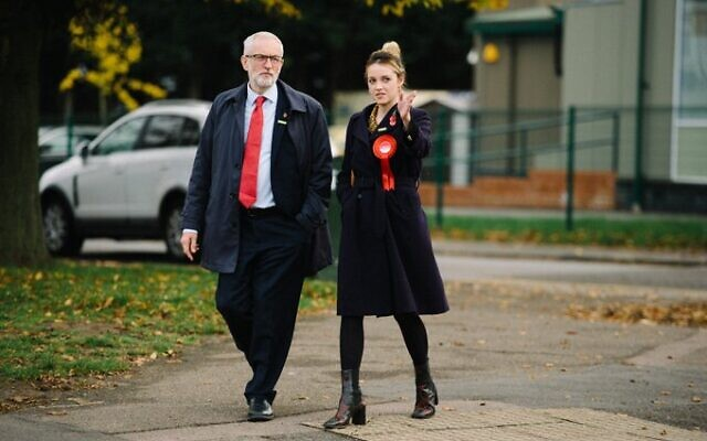 Harlow PPC Laura McAlpine with Jeremy Corbyn on the campaign trail. (Pic: Twitter)