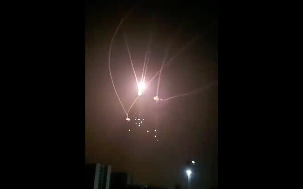 Israel strikes Hamas targets after barrage of terror rockets