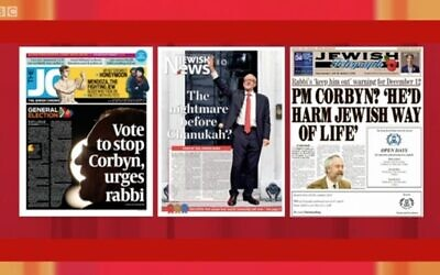 Andrew Marr show displays the three main Jewish newspapers' front pages, including Jewish News