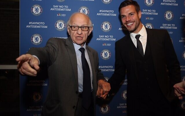 Survivor Zigi Shipper with Chelsea club captain Cesar Azpilicueta (Photo by Chelsea FC/Chelsea FC)