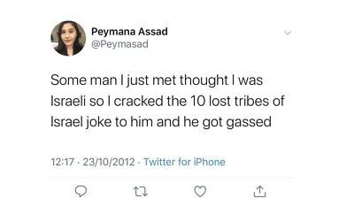 Peymana Assad's 2012 tweet