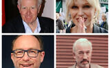 John le Carre, Joanna Lumley,, Jimmy Wales and  Simon Callow (WIkipedia