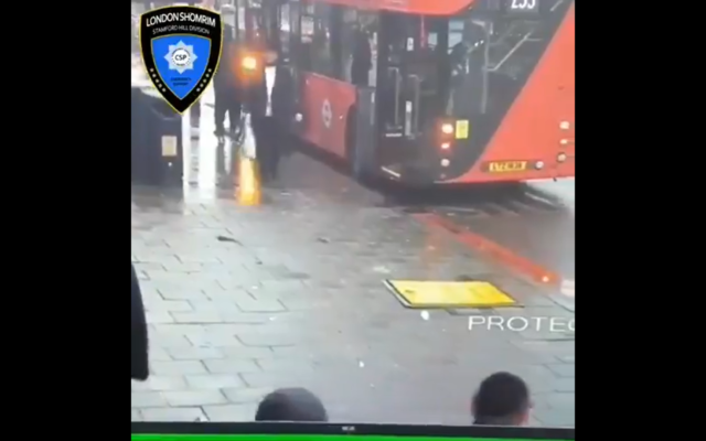 Screenshot from video by Shomrim