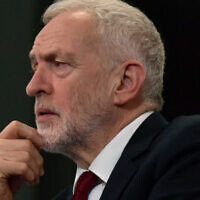 Jeremy Corbyn. (Photo credit: Jeff Overs/BBC/PA Wire via Jewish News)