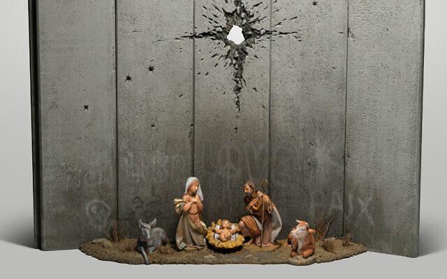 Banksy's new artwork titled Scar of Bethlehem. (Photo credit: Banksy/PA Wire)