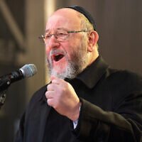 Chief Rabbi Ephraim Mirvis (Photo credit: Dominic Lipinski/PA Wire)