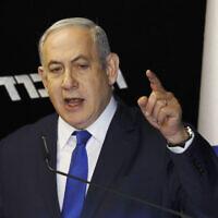 Israeli Prime Minister Benjamin Netanyahu.  (AP Photo/Ariel Schalit)